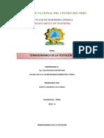 TERMODINÁMICA DE LA TOSTACIÓN
