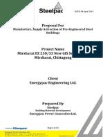 Steelpac Proposal for Energypac Engineering Ltd. Ltd.