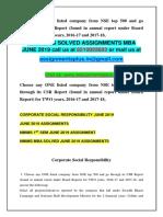 Corporate Social Responsibility JUNE 2019
