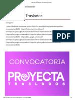 PROYECTA Traslados _ Secretaría de Cultura