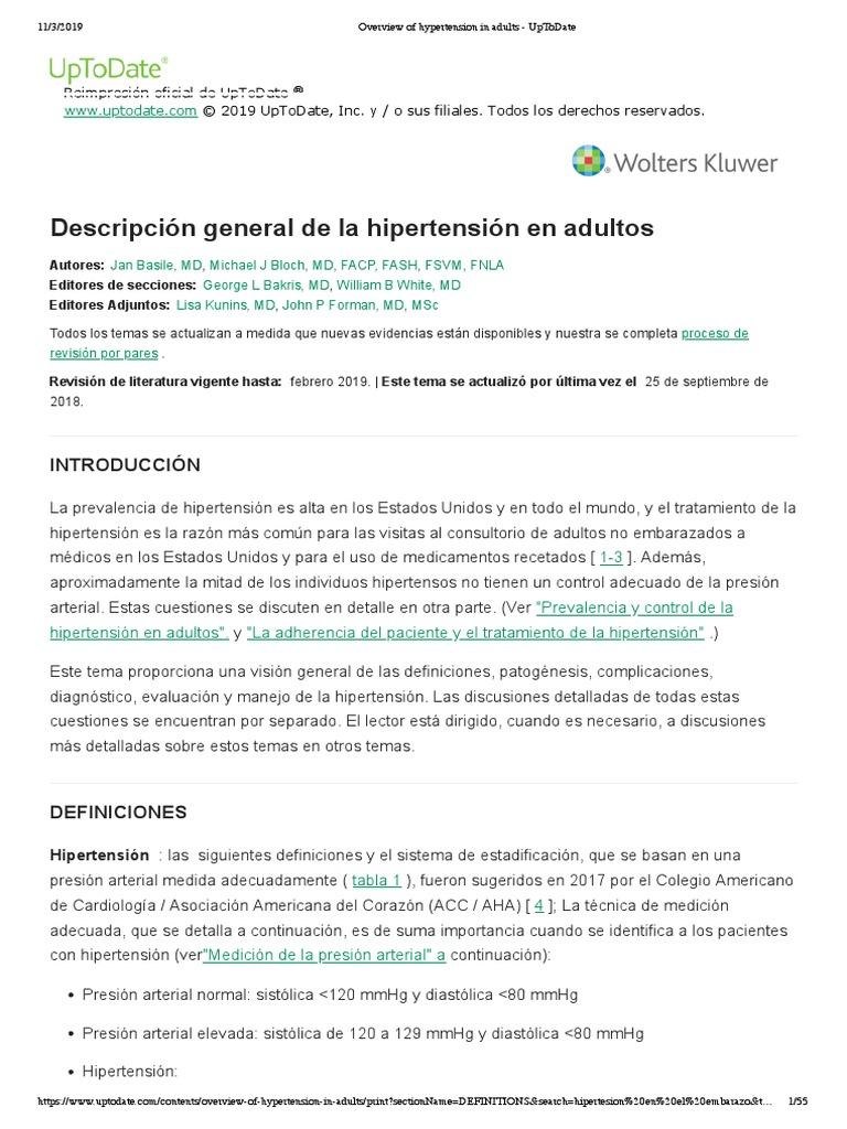 Hipertensión farmacorresistente definición niños