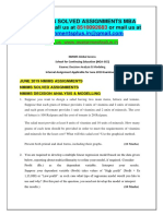 Decision Analysis & Modeling JUNE 2019