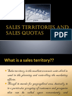 Sales Territories and Sales Quotas