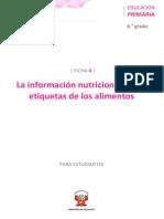 MINEDU _Informacion Nutricional en Etiquetas