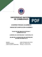 Auditoria Sistemas Informaticos II - 10mo