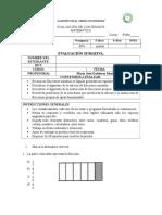 Evaluación de Contenidos 4º