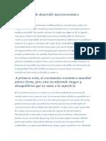 Perspectivas de Desarrollo Macroeconómico Mundial
