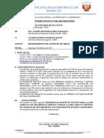 INFORME N° 001-2019-REQ DE ASISTENTE DE OBRAS