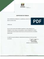 Certificado de Trabajo Rectificado