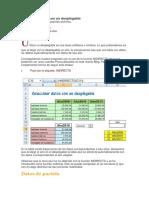 Seleccinar Datos Con Un Desplegable