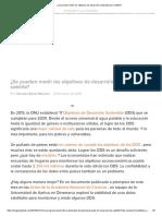 ¿Se Pueden Medir Los Objetivos de Desarrollo Sostenible Por Satélite