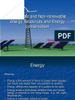 Renewable & Non - renewable energy resources