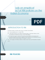 Comprehensive Project on impact of monetary policy of india
