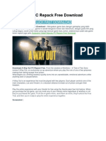 A Way Out PC Repack Free Download