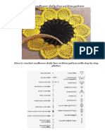 How to Crochet Sunflower Doily Free Written Pattern