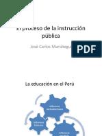 El Proceso de La Instrucción Pública