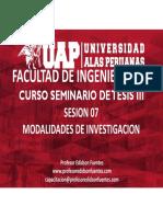 Sesion 07 Modalidad de La Investigacion