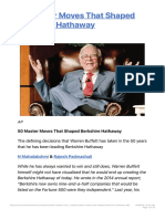 50 Master Moves That Shaped Berkshire Hathaway Outlook Business