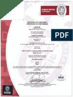 Certificado Conformidad Producto C & B 4176 2018-2021