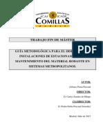 Guia Metodológica Para El Diseño de Instalaciones de Estacionamiento y Mantenimiento