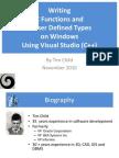 Writing PostgreQL C Functions on Windows