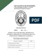 fuerza electromotriz y resistencia interna