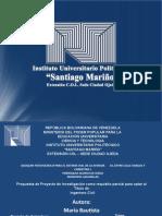 Maria Bautista, Diapositivas Proyecto de Investigacion