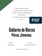 Gobierno de Perez Jimenez