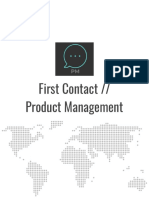 First Contact Product Management