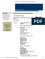 IT Training Certification - Microsoft Certified Systems Engineer (MCSE) Course Outline