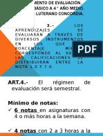 Reglamento de Evaluación 2019