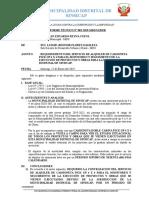 INFORME N° 002-2019-REQ DE CAMIONETA PARA INSPECCION DE OBRAS