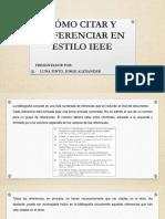 Cómo Citar y Referenciar en Estilo IEEE