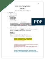 Clases de Enlaces Químicos Taller No.2