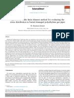 Aplicación de elementos finitos para evaluar tensiones en tuberia de polietileno
