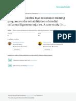 Aplicación de Un Programa de Fuerza Con Carga Excéntrica en La Readaptación de Una Lesión de Ligamento