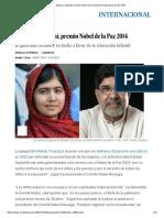 Malala y Satyarthi, Premio Nobel de La Paz 2014