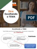 eBook Como escolher o tema do tcc