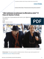 """""""¡Qué Autónomo Ni Autónomo! ¡La Libertad No Existe!"""" 15 Frases de Sánchez Ferlosio"""