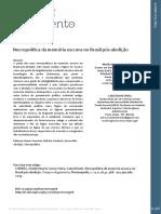 CORREA & VIEIRA (2019).      Necropolítica da memória escrava no Brasil pós-abolição. Tempo & Argumento (UDESC)