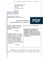 Opposition to Motion to Certify for Interlocutory Appeal [Dkt #48] as Filed 04-15-19
