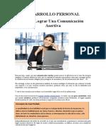DESARROLLO PERSONAL - Comunicacion Asertiva