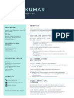 pale turquoise social media manager simple resume  3