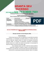 UNOPAR ADM 6 e 7 sem Novas Tendências para o Comércio Internacional Brasileiro Novas Tendências para o Comércio Internacional Brasileiro.pdf