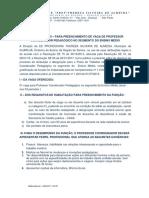 Edital Professor Coordenador Pedagogico 2019