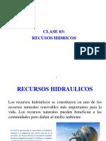 Tema 3 - Recursos Hidricos