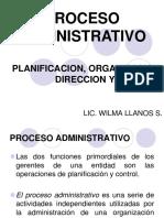 Planificacion Organizacion Direccion y Coordinacion