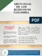 Marco Legal de Los Archivos en Colombia