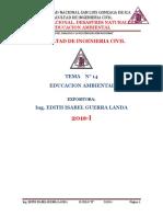 14° EDUCACION AMBIENTAL-2018-I DESASTRES-2°B