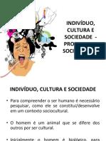 Aula 2 Indivíduo, Cultura e Sociedade